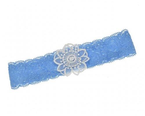 Jarretière bleue style vintage