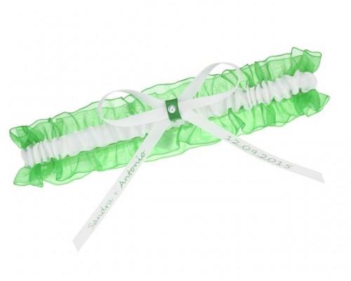 Jarretière verte individualisable