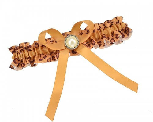 Jarretière originale léopard avec perle