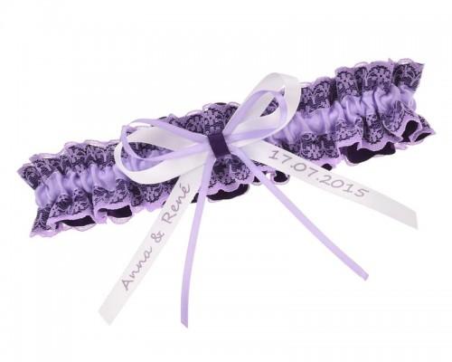 Jarretière violette personnalisable