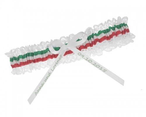 Jarretière drapeau italien personnalisable